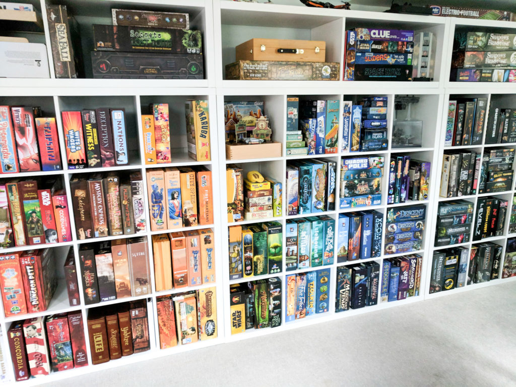 How we organize and store our board games